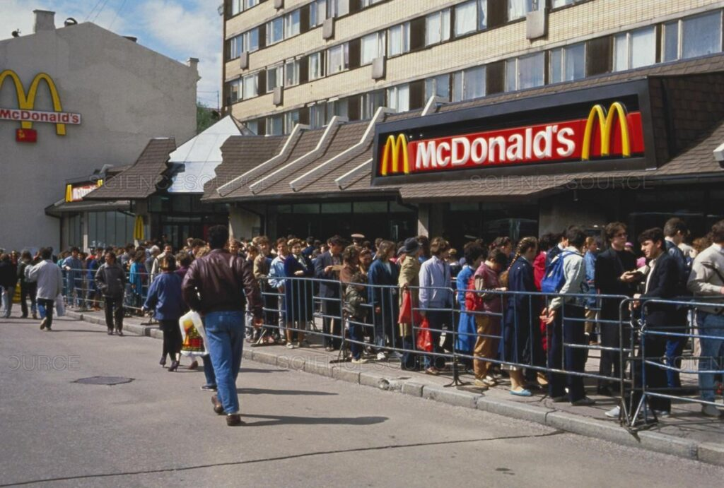 Science Source - Huge Line at Moscow McDonald's